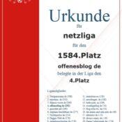 Kicker-Managerspiel – netzliga Urkunden 2013/14