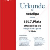 Kicker-Managerspiel – netzliga Urkunden 2015/16